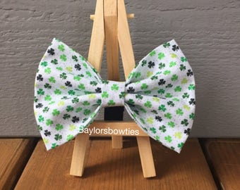 St. Patricks day dog bow tie
