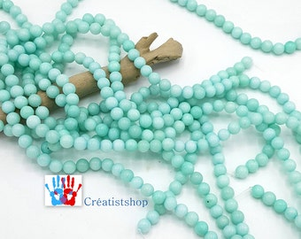 Amazonite natural stone 8mm aqua marine beads / 6mm in packs of 10/20/30/40 units or stand