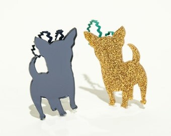 Chihuahua Christmas Ornament!  Adorable Dog Lover Tree Ornament, Chihuahua Magnet