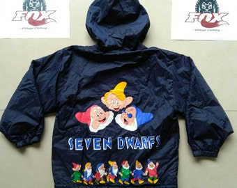Vtg Disney Jacket / Seven Dwarfs / Mickey and Minnie / children 2 in 1 jacket windbreaker vintage Retro colorful hipster hip-hop rap nike st