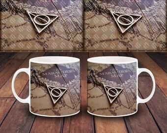 Harry Potter Design 03 Deathly Hallow Necklace Design 11oz Ceramic Coffee Tea Mug