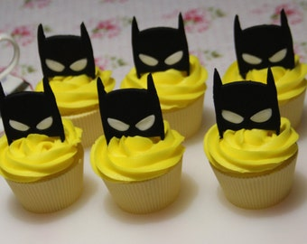 Batman mask fondant cupcake toppers