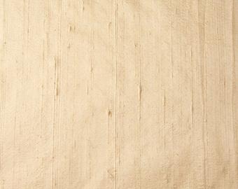 Light Ivory Dupion Pure Raw Silk