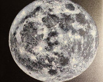 Textured Tile of SuperMoon, can feel the moon surface
