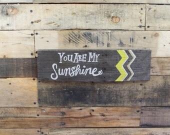 You Are My Sunshine Nursery Artwork / Rustic Sign / Rustic Decor / Nursery Sunshine Artwork / Nursery Sign / Nursery Decor / Nursery Art