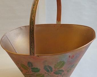 "Metal Basket Planter ""PANIER"" from Springtime in Paris collection"