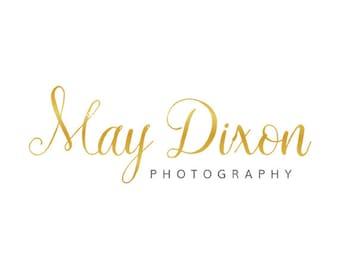 Premade Logo Design | Gold Foil Logo | Calligraphy Logo | Gold Logo | Small Business Logo | Photography Logo