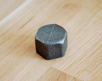 """CAP in black cast iron 15 / 20 or 21mm (1/2 """") / 27mm (3/4"""") or 26 / 34mm (1 """")"""