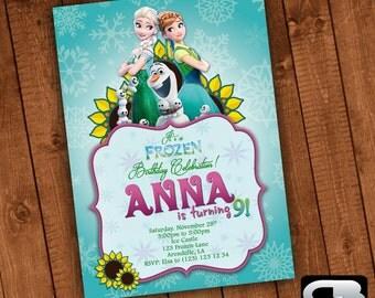 Frozen Invitation - Frozen Invite - Frozen Invitation - Frozen Birthday Party - Elsa Invitation - Elsa Invite - Digital File Download