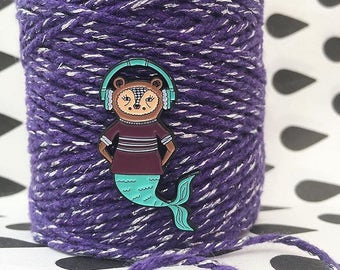Turquoise/Purple Soft Enamel Mermaid Bear Merbear Pin Badge - Lapel Pin - Tie Pin - Hat Pin