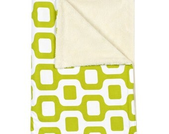 """Contemporary Lime Green Baby Stroller Blanket (30""""x40"""")"""