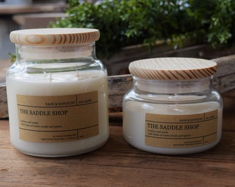THE SADDLE SHOP - Handpoured Soy Candle- 16 oz & 9 oz