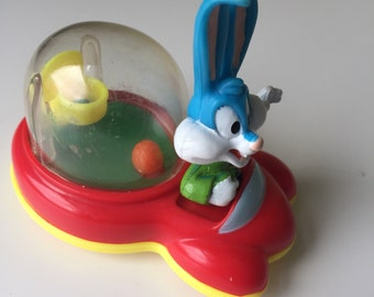 Tiny Toons 1990 Rock 'n' Roar story book Buster Bunny McDonald's Happy Meal wacky roller  Steven Spielberg Warner Bros.