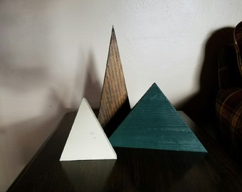 Set of Wooden Christmas Trees