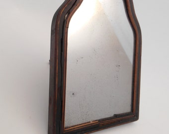 Vintage Vanity Mirror - Table Top Wood Framed Mirror On Stand - French Home Decor Wall Hanging Mirror