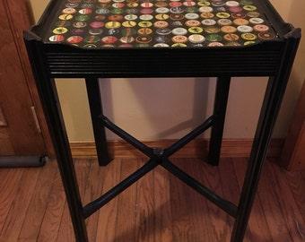 Custom Bottle Cap Table, home decor, furniture