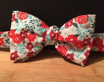 Bright Floral Self-tie Bow Tie