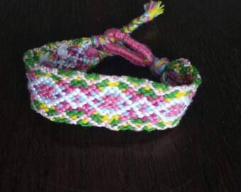 Boho spring friendship festival bracelet