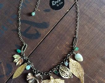 Leaf Collage Necklace