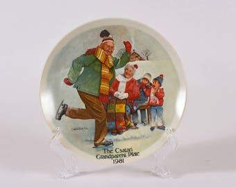 "Csatari Grandparent Plate: ""The Skating Lesson"""