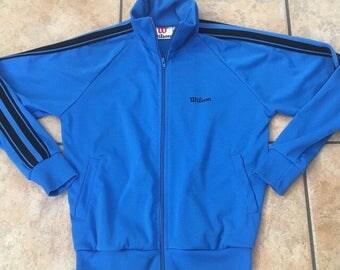 1980's Wilson Track Jacket • Vintage Sport Jacket (Medium)