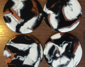 Custom resin coasters