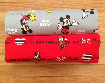 Disney Mickey Minnie Flannel Swaddle Receiving Baby Newborn Toddler Blanket Large