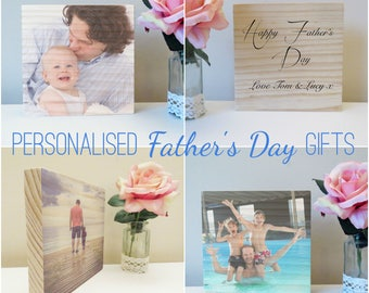 Father's Day Personalised Wooden Photo
