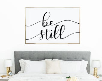 Be Still Printable Wall Art, Instant Download, Be Still My Soul Print, Wall Decor, 24X36, MAM304_01