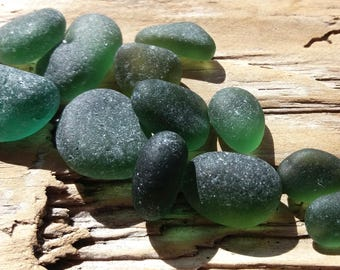 Selection of Seaham Green Sea Glass by SeaFindsScotland English Sea Glass End of Day Sea Glass Jewelry Sea Glass Sea Glass Supplies