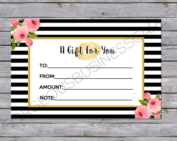 Lipsense Gift Certificate/Gift Card CUSTOMIZED To Your