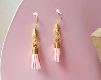 Earrings pink PomPoms