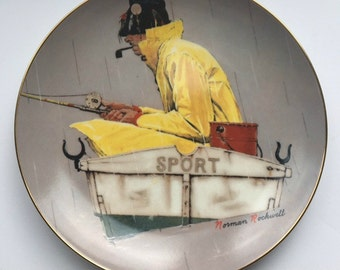 Free Shipping - Norman Rockwell Plate