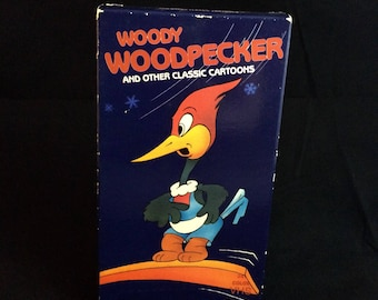 Woody Woodpecker and Other Classic Cartoons - 1989 Vintage VHS Tape - 80s Cartoons