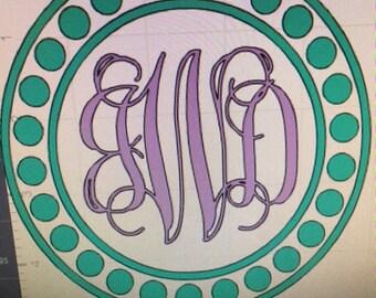 Car decal, Yeti decal, glitter adhesive decal, customize, monogram