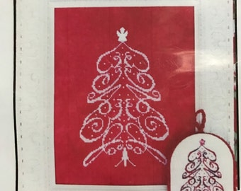 M Designs Peace Tree Ornament counted cross stitch design