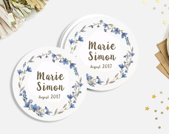 Wedding tags - Guest favour wedding tags - Crafts tags - Baby Shower, Wedding. Personalized tags. Custom color and text available