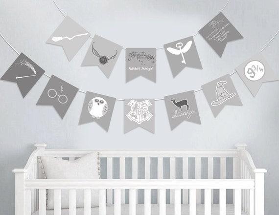 Harry Potter Baby Nursery Banner Harry Potter baby shower