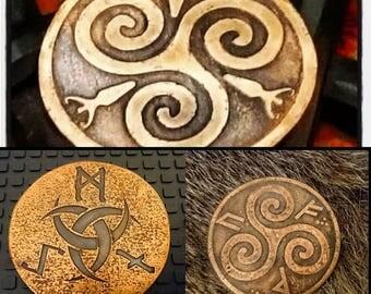 Bespoke Pagan Altar Plaque in Copper