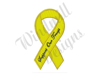 Support Our Troops - Machine Embroidery Design