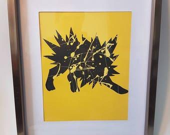 Jolteon pokemon paper art