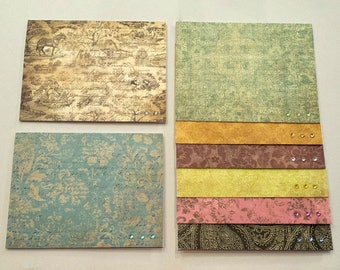 8 Rustic Any Occasion Card Set / Assortment / Stationery Set  / Paisley / Card Assortment / Floral Cards / Rustic Cards / Blank Cards