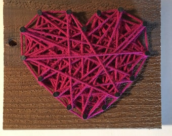 Purple Yarn Heart