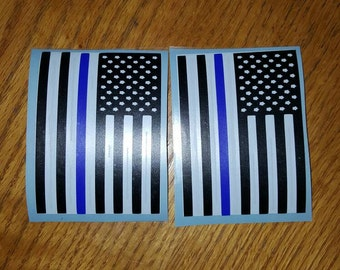 Police Vinyl Decal, black and white American flag, American flag, law enforcement decal, police lives matter, police flag decal,