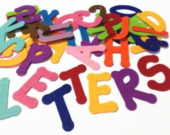 Felt Letters, 2 Alphabets - 52 Pieces, Die Cut Capital Letters for Crafting, Sewing, Flannel Boards and Educational Activities