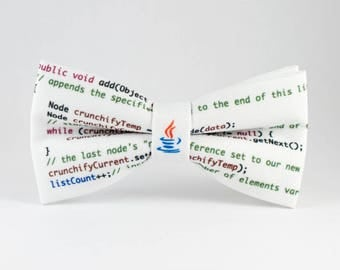 Mens Bow tie Programmer Bow Tie Unique BowTies Handmade Bow Tie Java Bow Tie Coder Bow Tie Geek bow tie Nerd tie Programmer Tie It guy gift