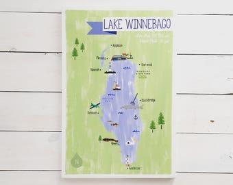 Lake Winnebago Custom Hand Painted Sign
