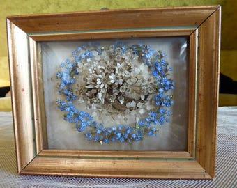 1841 Hair Wreath, Hair Art, Hair Picture, Victorian Art, Mourning Wreath Real Hair
