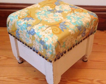 Small Restored Antique Footstool - REDUCED