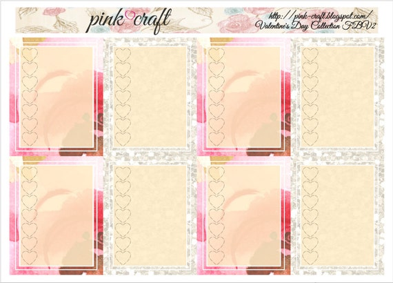 Full boxes with checklist planner stickers. Valentine's Day collection FBV2